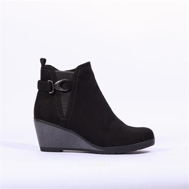 Marco Tozzi Wedge Buckle Boot Ranco - Black
