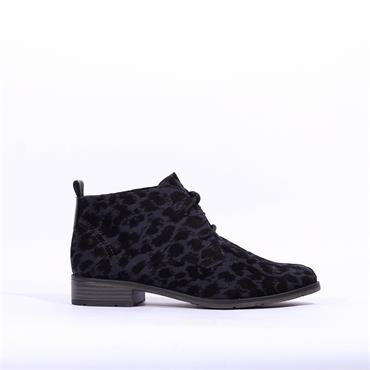 Marco Tozzi Laced Leopard Boot Rapalli - Navy