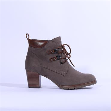 Marco Tozzi Pesa Lace Suede Ankle Boot - Pepper