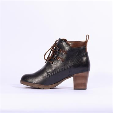 Marco Tozzi Pesa Lace Ankle Boot - Navy Combi