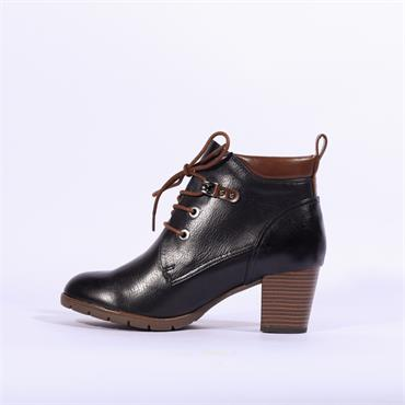 Marco Tozzi Lace Up Ankle Boot Pesa - Navy Tan