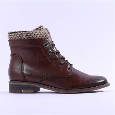 Marco Tozzi Rapalli Lace Cuff Boot - Brown