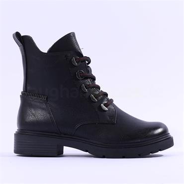 Marco Tozzi Verico Lace Military Boot - Black