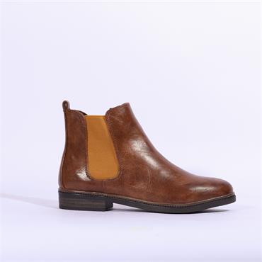 Marco Tozzi Flat Side Gusset Boot Rova - Cognac