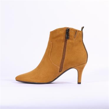 Marco Tozzi Ola High Heel Ankle Boot - Mustard