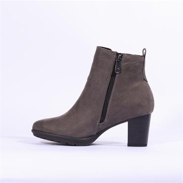 Marco Tozzi Aceri Panel Gusset Boot - Grey Suede