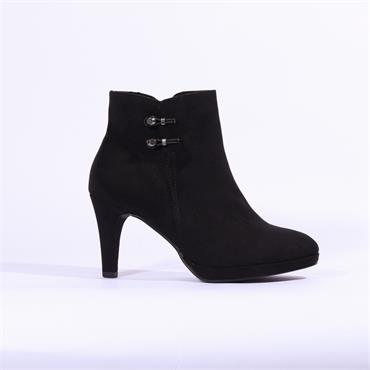 Marco Tozzi Bino High Heel Ankle Boot - Black