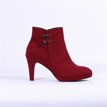 Marco Tozzi Bino High Heel Ankle Boot - Red