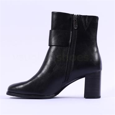 Marco Tozzi Kulla Block Heel Buckle Boot - Black