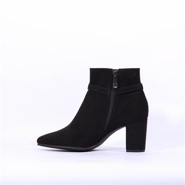 Marco Tozzi Buckle Thin Strap Boot Lode - Black