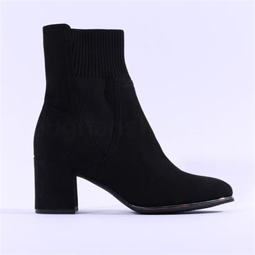 Marco Tozzi Delo Block Heel Sock Boot - Black