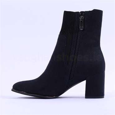 Marco Tozzi Delo Block Heel Sock Boot - Dark Navy