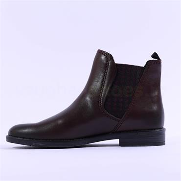 Marco Tozzi Leather Chelsea Boot Rapalli - Bordeaux Leather
