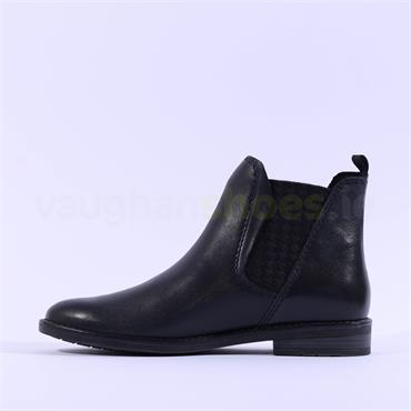 Marco Tozzi Leather Chelsea Boot Rapalli - Navy Leather