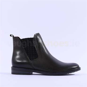 Marco Tozzi Leather Chelsea Boot Rapalli - Olive Leather