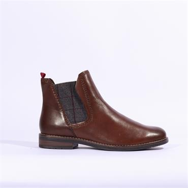 Marco Tozzi Rapalli Leather Ankle Boot - Brown