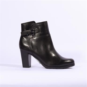 Marco Tozzi Morico Leather Ankle Boot - Black