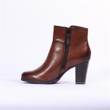 Marco Tozzi Morico Leather Ankle Boot - Cognac