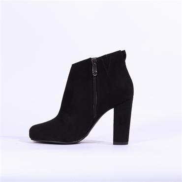 0b70f8a6b2 ... Marco Tozzi Empoli Suede High Heel Boot - Black