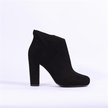 Marco Tozzi Empoli Suede High Heel Boot - Black