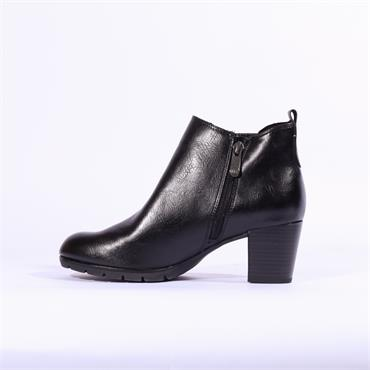 Marco Tozzi Pesa Block Ankle Boot Gusset - Black