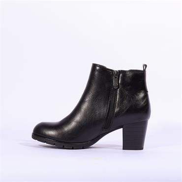Marco Tozzi Block Heel Gusset Boot Pesa - Black
