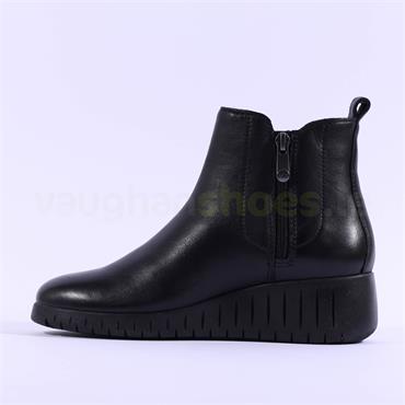 Marco Tozzi Ceraso Leather Wedge Boot - Black Combi