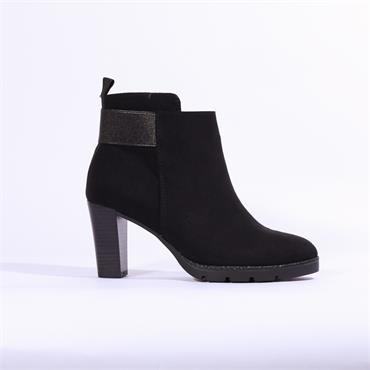 Marco Tozzi Barone High Chunky Heel Boot - Black