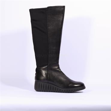 Marco Tozzi Ceraso Knee High Boot - Black Leather