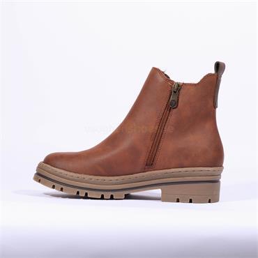 Marco Tozzi Vegan Platform Boot Ginosa - Cognac