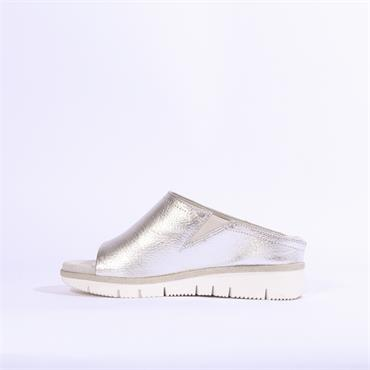 Marco Tozzi  Low Wedge Mule - Silver