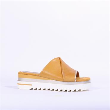 Marco Tozzi Cleated Mule Sandal Sosi - Mustard