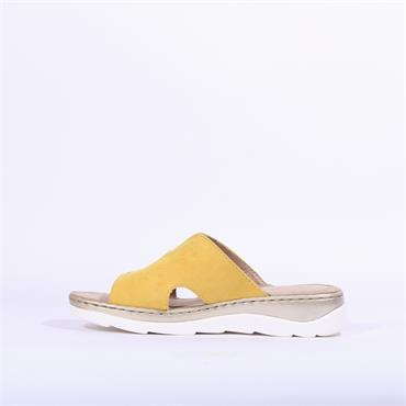 Marco Tozzi Rigola Leather Mule Sandal - Yellow