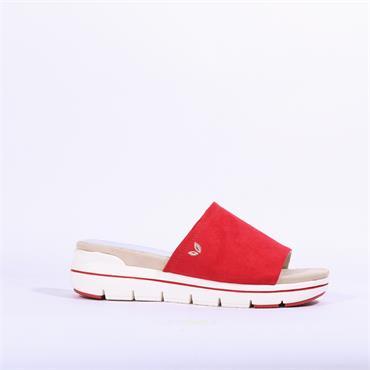 Marco Tozzi Vegan Mule Sandal Versi - Red