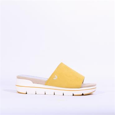 Marco Tozzi Vegan Mule Sandal Versi - Yellow