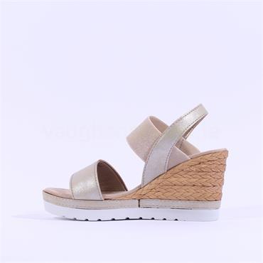 Marco Tozzi Durno Weave Wedge Sandal - Platinum