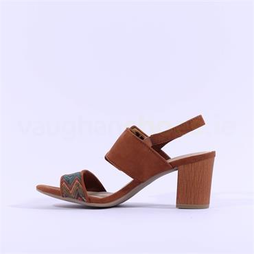 Marco Tozzi Suca Slingback Buckle Sandal - Tan Combi