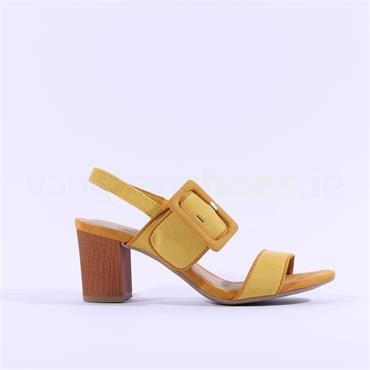 Marco Tozzi Suca Slingback Buckle Sandal - Yellow Combi