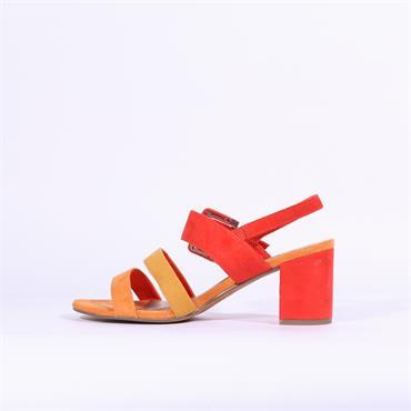 Marco Tozzi Paduli Block Heel Sandal - Fire
