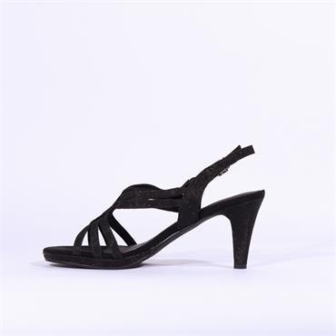 Marco Tozzi Paduli Glitter Sandal - Black Glitter