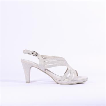 Marco Tozzi Paduli Glitter Sandal - Silver
