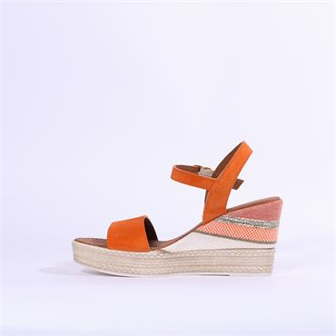 0b0be2e9496da ... Marco Tozzi Carmen Leather Wedge Sandal - Orange