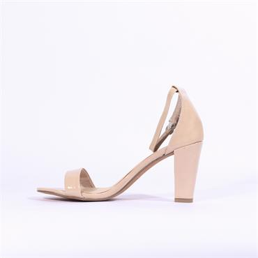 Marco Tozzi Carda Ankle Strap Sandal - Nude Patent