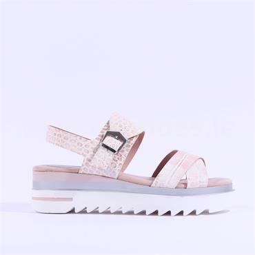 Marco Tozzi Forso Chunky Sole Sandal - Rose Croc