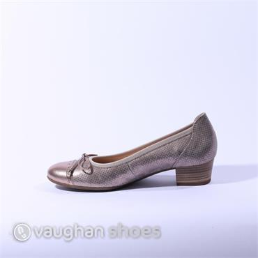 Gabor Low Tie Court Shoe Athen - Gold