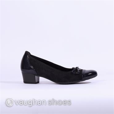 Gabor Low Tie Court Shoe Islay - Navy