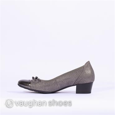 Gabor Low Tie Court Shoe ISLAY - Grey