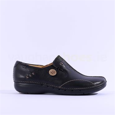 Clarks Women Un Loop - Black Leather