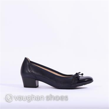 Gabor Low Tie Court Shoe Hayley - Navy