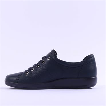 Ecco Women Soft 2.0 Laced - Navy Leather